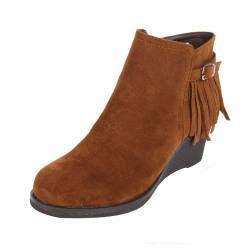 Catwalk Women's Frill Detail Buckle Boots