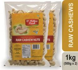 D NATURE FRESH RAW CASHEWS ,1KG (500g x 2) Cashews  (2 x 500 g)