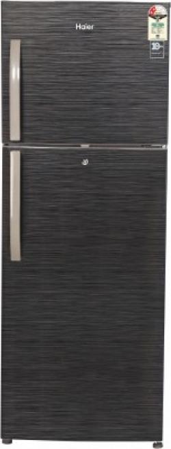 Haier 310 L Frost Free Double Door 2 Star (2020) Refrigerator(Black Brushline, HRF-3304BKS-E)