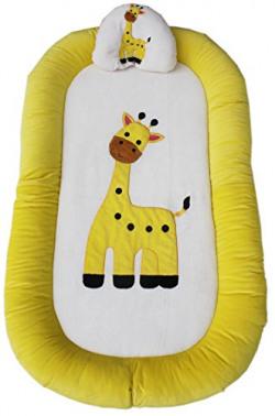 Amardeep Baby Bedding Set Cum Play Mat, Cream/Lemon