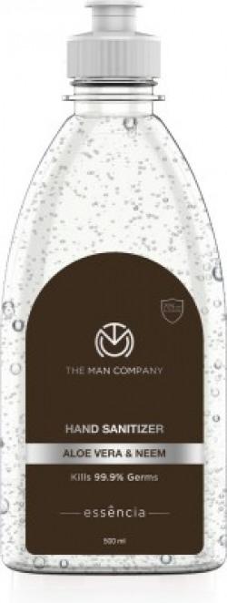 The Man Company Aloe Vera & Neem  gel with 70% alcohol Hand Sanitizer Bottle(500 ml)