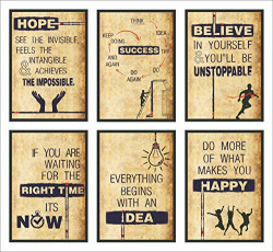 Set of 6 motivational posters @ 299/-