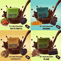 BOGATCHI Set of 4 Dark Chocolates, 4pcs