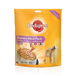 Pedigree Puppy Dog Food Combo Meal, Dry and Gravy, 180g