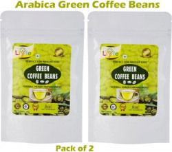 LIYFE Green Coffee Beans 100g Pack of 2 Instant Coffee(2 x 100 g, Green Coffee Flavoured)