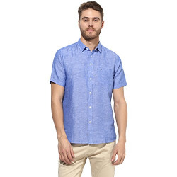 Red Tape Men's Solid Regular fit Casual Shirt (RSH6444A_Royal Blue S)