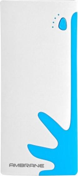 Ambrane 10000 mAh Power Bank (Fast Charging, 10 W)(White, Blue, Lithium-ion)