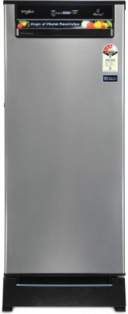 Whirlpool 200 L Direct Cool Single Door 3 Star (2019) Refrigerator with Base Drawer(Alpha Steel, 215 VITAMAGIC PRO ROY 3S)