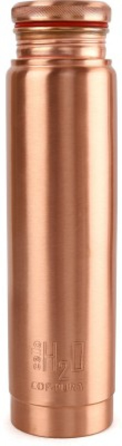 Cello H2O Cop-Pura Copper Water Bottle,1.1 LTR 1100 ml Bottle(Pack of 1, Brown)
