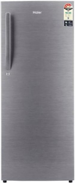 Haier 220 L Direct Cool Single Door 4 Star (2019) Refrigerator(Brushline silver, HRD-2204BS-R/E//HRD-2204CBS-R/E)