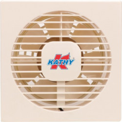 Kathy AXIAL 150 mm Copper Motor 150 mm Anti Dust 7 Blade Exhaust Fan(Ivory, Pack of 1)