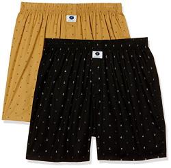 Amazon Brand - Symbol Men's Printed Cotton Boxers (Combo Pack of  2)(SYMBXPO2-37_3637 & 3923_Multicolor - 163_S)