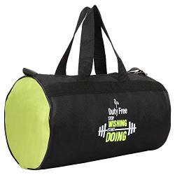 Duty Free 20 L Polyester Duffle Bag/Gym Bag for Men & Women (Black & Green)