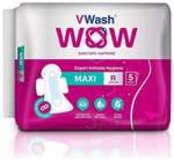 Vwash Wow Sanitary Napkin Maxi R 5S-Pack Of 4 (20 Pads)