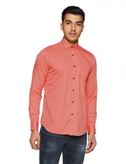 Easies by Killer Men's Plain Slim Fit Casual Shirt (85061 Barney E702UASFFSSC Dusty Red XL)