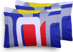 Home Elite Designer Printed Polycotton Pillow Covers - Regular Size(17 x 27 inches) - Multicolor - Pack of 2