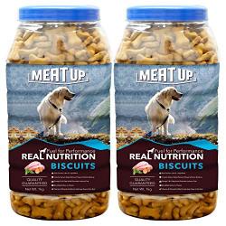 Meat Up Chicken Flavour , Real Chicken Biscuit, Dog Treats - 1kg Jar ( Buy 1 Get 1 Free)