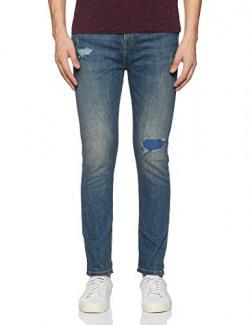United Colors of Benetton Men's Drop Crotch Jeans (19P4L23R1093I_901_38_Blue