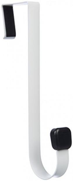 AmazonBasics Over-The-Door Single Hook, White