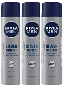 NIVEA MEN Deodorant, Silver Protect Antibacterial, 150ml & NIVEA Deodorant, Fresh Flower, 150ml Combo 51% off