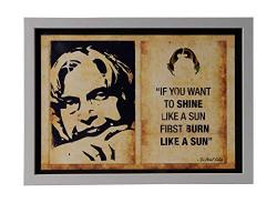 SEPIA Craft Dr. Abdul Kalam Motivational Frame -Quotes Frame (23 cm x 31.5 cm x 0.5 cm, ADS - WFA4-10APJ)