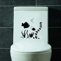 Sehaz Artworks MI-TOI-Fish Black Toilet Sticker