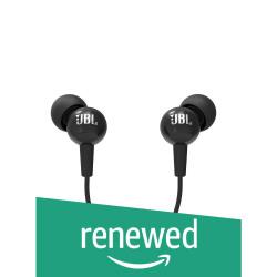 (Renewed) JBL C100SI in-Ear Headphones with Mic (Black)