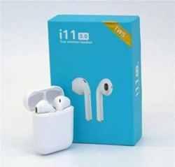 N2B TS Bluetooth Headset with Mic Bluetooth Headset(White, True Wireless)