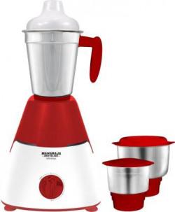 Maharaja Whiteline Infinimax Classic MX-223 550 W Mixer Grinder  (Red, White, 3 Jars)