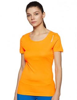 Reebok Women's Plain T-Shirt (4058023558356_BC5911_X-Small_Fire Spark)