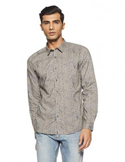 Beat London by Pepe Jeans Men's Printed Slim Fit Casual Shirt (PM305768_Grey_L) Rs. 413 - Amazon