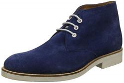 Woodland Men's Blue Leather Boat Shoes - 8 UK/India (42 EU)