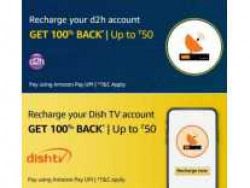 [ Account Specific ] Get 100% Cashback Upto Rs.50 On Dish TV / D2H Recharge - Amazon