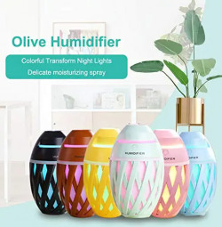Vency Air Freshener Olive Humidifier With LED Night Light For Car Home And Office (Multi Color) Rs. 649 - Amazon