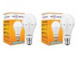 Wipro Garnet Emergency LED Bulb 9W 6500K - Pack of 2 Rs. 749 - Amazon