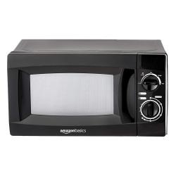 (Renewed) AmazonBasics 20 L Solo Microwave Oven (AB2019001_cr, Black) Brand: AmazonBasics