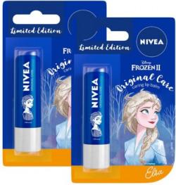 NIVEA Lip Balm, Disney Limited Edition Original Care, 4.8g (Pack of 2) Original(Pack of: 2, 9.6 g)