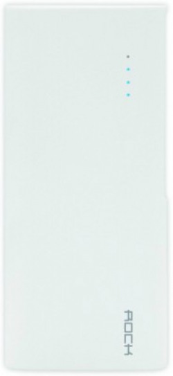 Rock 10000 mAh Power Bank (Fast Charging, 12 W)(White, Lithium-ion)