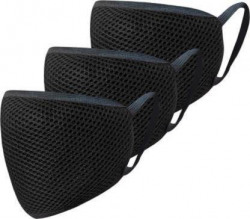 Cafley Triple Shield Reusable Protection Mask CAF03 Cloth Mask  (Black, Free Size, Pack of 3)