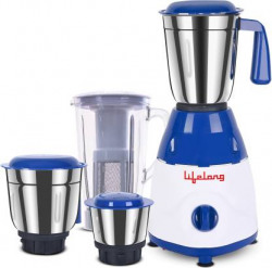 Lifelong Rapid LLMG78 750 W Juicer Mixer Grinder  (Blue, 4 Jars)