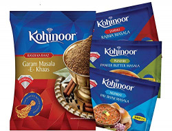Kohinoor Rajma Masala, 15g with Pav Bhaji Masala, 15g, Paneer Masala, 15g and Garam Masala, 40g Combo Pack