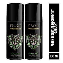 Fresh Essential Gas Deodorant, Gallant, 150 ml (Pack of 2)