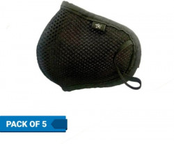 Flipkart SmartBuy Health+ 6 Layer Reusable Pollution Mask OM-Black-5(Black, Pack of 5)