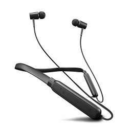 Flybot Action in Ear Wireless Bluetooth Neckband and Magnetic Earbuds, IPX4 Water Resistant Sports Earphones, Built-in Mic (Black)