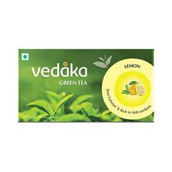 Amazon Brand - Vedaka Green Tea, Lemon, 25 Tea Bags