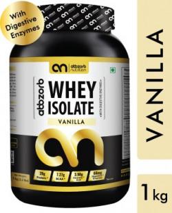 Abbzorb Nutrition Abbzorb Whey Isolate Vanilla Whey Protein(1000 g, Vanilla)