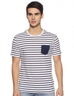 Amazon Brand - Inkast Denim Co. Men's Solid Cotton T-Shirt (AZ-TS-10A_Navy L)