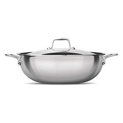 Treo by Milton Triply Stainless Steel Kadhai with Lid, 28 cm / 4600 ml
