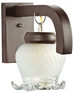 Somil Som_Wall_295 100-Watt Sconce Decorative Wall Light (Off-White, Round)