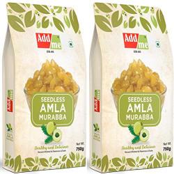 Add me Homemade Seedless Amla Murabba Sweets Amala 750 gm Pack of 2 Best Quality